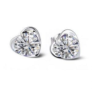 Fehér kristály fülbevaló