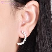 Ezüst félhold fülbevaló