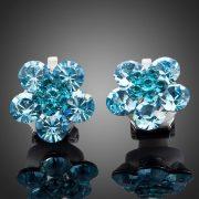 Kék virág fülbevaló