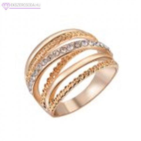 Arany strasszos gyűrű