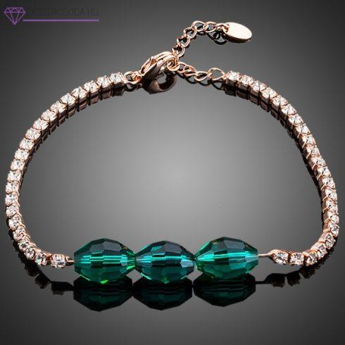 Zöld kristály karkötő